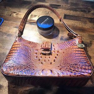 Brahmin Toasted Almond Leather Handbag w/Flap